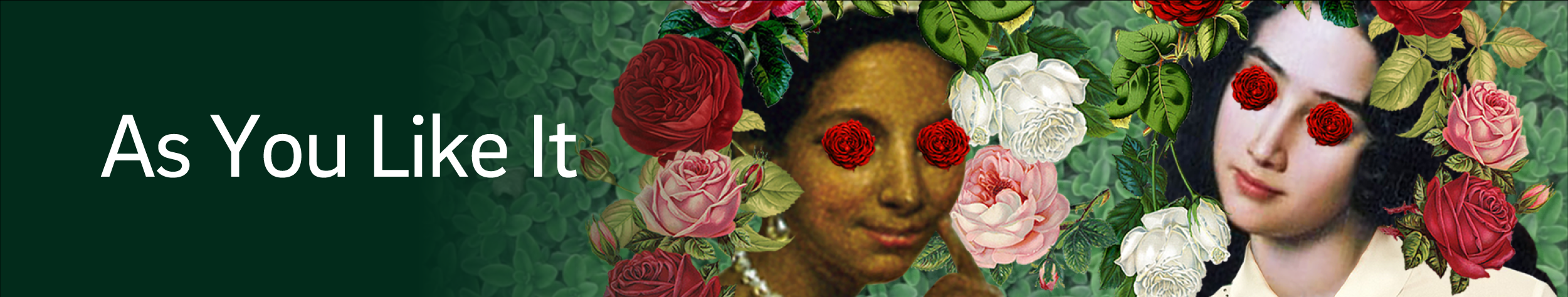 a collage featuring two girls and roses